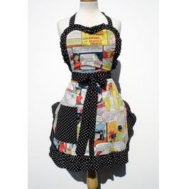 accessories Apron rockabilly Pin_up Novelty hostess Retro seamstress vintage cartoon kitchen_apron hipster comics 1950s Pinup_Girl