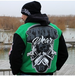 Xtatic Wear Varsity Jacket Green