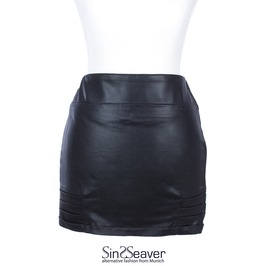 Stretchy Mini Skirt Full Zipper Side