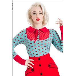 Voodoo Vixen Big Heart Rockabilly Top