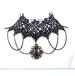 Necklace Steampunk Goth Choker Black Lolita Hot!