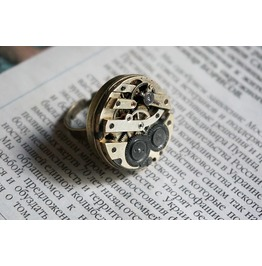 Steampunk Bdsm Jewelry Ring Jeweled Pinstripe Antique Vintage Swiss Watch Movement Brutal Style Rings Gorgeous Gift