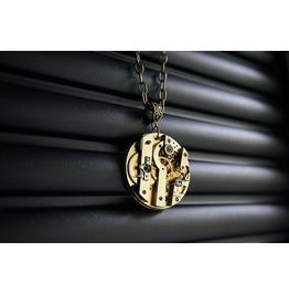 Steampunk Bdsm Jewelry Gold Necklace Antique Vintage Gilded Luxury Watch 1880 Year Wedding Birthday Gorgeous Gift