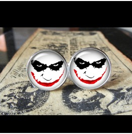 Joker Minimalist Face Paint Cuff Links Men, Weddings,Grooms, Groomsmen,Gifts,Dads,Graduations