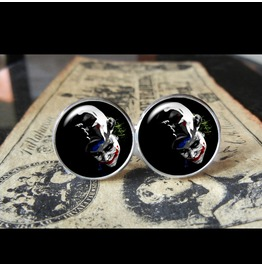 Joker Unmasking Cuff Links Men, Weddings,Grooms, Groomsmen,Gifts,Dads,Graduations