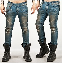 Tough Chic High Quality Blue Biker Jean
