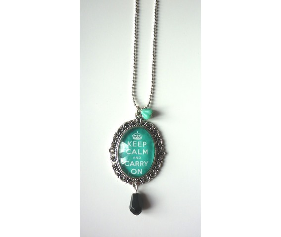 keep_calm_mint_green_necklace_tattoo_rockabilly_pin_up_crown_necklaces_4.JPG