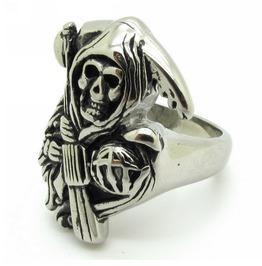 Grim Reaper Stainless Steel Men's Ring