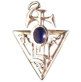 Pendant Sigil Bether, Lapis Lazuli Abundance