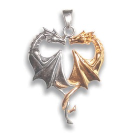 Pendant Dragon Heart Lasting Love Anne Stokes