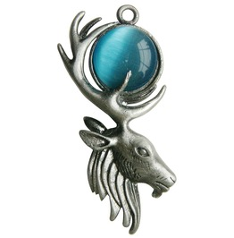 Pendant Moon Stag Mystical Power