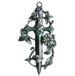 Pendant Sword Green Magical Protection