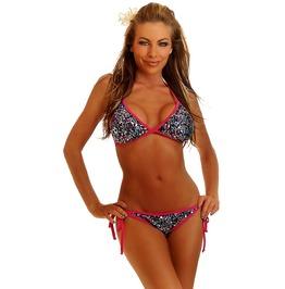 Bikini Set Daisy Corsets Confetti Sequin Pucker Back Bikini