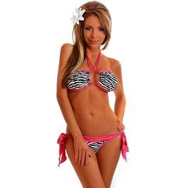 Bikini Set Daisy Corsets Zebra Foil Dot Bandeau Halter Top Bikini