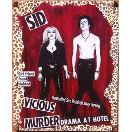 Sid & Nancy Mixed Media Wood One Kind Collectors Piece