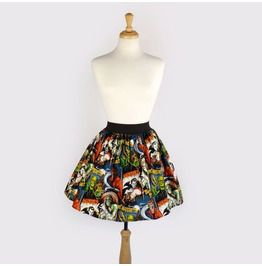 """Lindy"" Horror Pinup Aline Skirt"