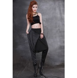 Long Black Hip Hop Pants