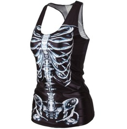Bones/X Ray/Skeleton Black/White Summer Tank Top