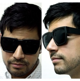 Luxurious Oversized Pentagon Sunglasses (Black)