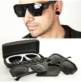 Modish Uber Cool Stud Accent Sized Sunglasses