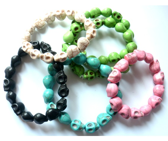 summer_tribal_green_anise_skulls_unisex_bracelet_necklaces_4.JPG