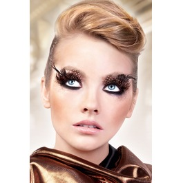 Eyelashes Baci Brown Black Feather Eyelashes Be626