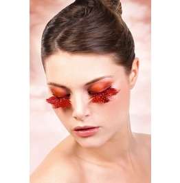 Eyelashes Baci Orange Red Feather Eyelashes Be617