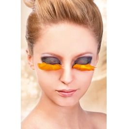 Eyelashes Baci Orange Feather Eyelashes Be601