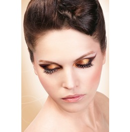 Eyelashes Baci Black White Rhinestone Eyelashes Be578
