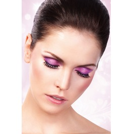 Eyelashes Baci Black White Rhinestone Eyelashes Be514