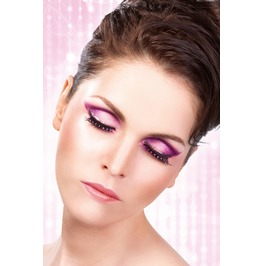 Eyelashes Baci Black Purple Rhinestone Eyelashes Be502