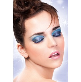 Eyelashes Baci Black Blue Rhinestone Eyelashes Be490