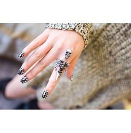 """Skeleton & Dagger Finger Ring Silver """" Last One """""""