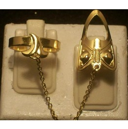 Hot ~ The Fashion Finger Nail Ring, Chain & Tip Gold