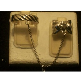 The Fashion Finger Nail Ring, Chain & Tip Silver Rt 11 S