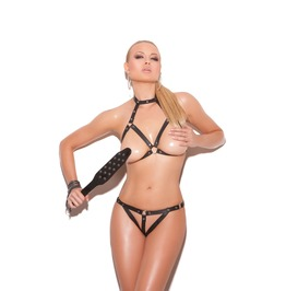 Bondage / Fetish Lingerie Set Leather Bra Set