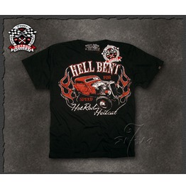 "Hotrod Hellcat ""Hellbent"" Retro Rat Rod Ford V8 T Shirt"