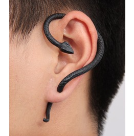 Winding Snake Ear Cuff High Quality Black