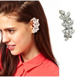 Butterfly Crystal Ear Cuff Silver