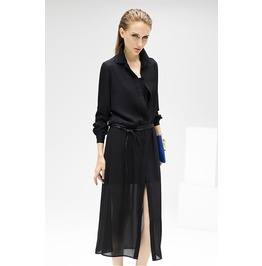 Long Sleeves Chiffon Dress