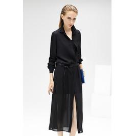 Long Sleeves Chiffon Dress
