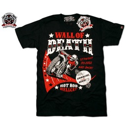 "Hotrod Hellcat ""Wall Death"" Biker Urban T Shirt Men"