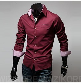 Shirt Nms315 S Color : Wine