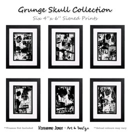Grunge Skull Collection Signed Prints Roseanne Jones