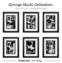 Grunge Skull Collection Signed Prints Roseanne Jones
