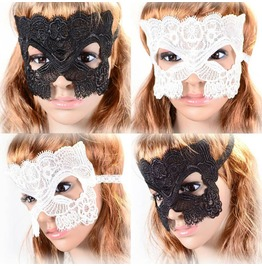 Victorian Black Or White Lace Face Mask