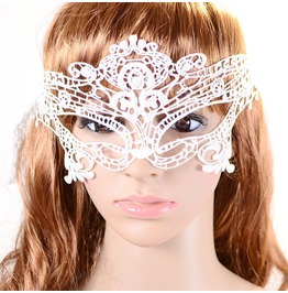 Victorian White Lace Face Mask