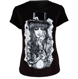 Poker Women Print T Shirt Fashion Women Tops