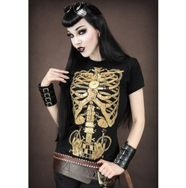 Creative Skeleton Print Women T Shirt Fashion Women Tops