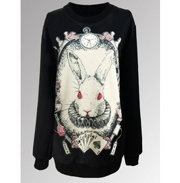 Personalized Bunny Print Long Sweatshirts